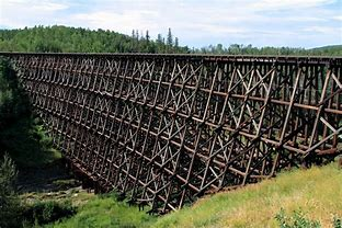 Image result for verry tall wooden railroad trestle