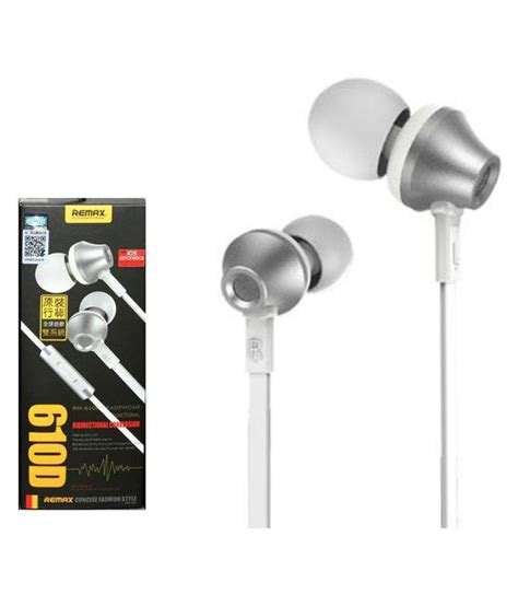 remax 610d ear buds wired earphones with mic buy remax