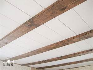 Hometalk DIY :: Faux Farmhouse Barn Beam Ceiling