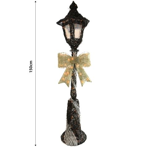 cm light  black silver lamp post outdoor christmas
