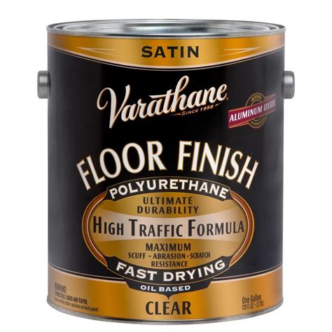 varathane floor finish based varathane 1 gal clear satin water based interior