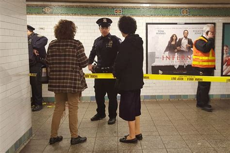 woman dies   pushed  front   train  times