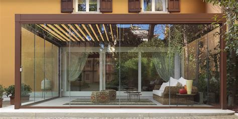 verande a vetri vetrata scorrevole slide glass accessori inox vetrata