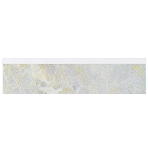 bullnose tile trim home depot merola tile aroa gris 2 in x 8 in ceramic bullnose trim