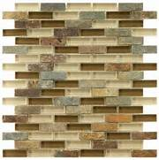 Merola Tile Tessera Piano Brixton 1134 In X 1134 In X 8 Mm Glass And St