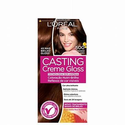 Tonalizante Creme Gloss Casting Claro Castanho