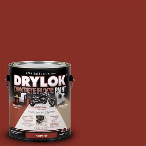 garage floor paint home hardware drylok 1 gal persian red water based floor paint 209104 the home depot