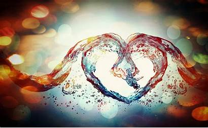 Abstract Heart Water Colorful Effects Colourful Wallpapers