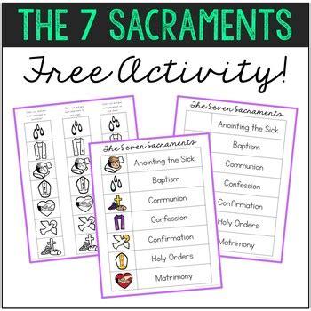 freebie   sacraments matching activity