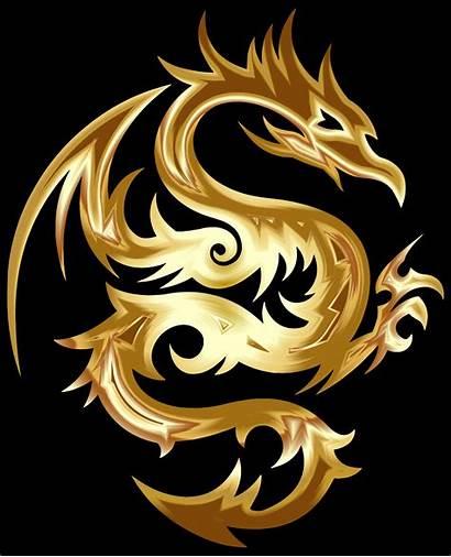 Dragon Gold Tribal Clipart Profile Goldendragon Thank