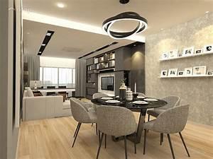Contemporary, Modern, Dining, Room, Living, Room, Condominium, Design, Ideas, U0026, Photos, Malaysia