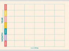Vector de plantilla de calendario semanal Descargue