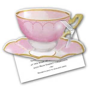 wedding evites diecut pink tea cup bridal shower invitation paperstyle