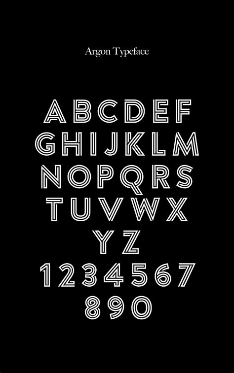 argon  multi lined font