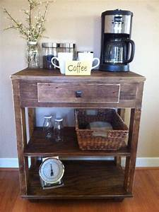 This, Beautiful, Rustic, Coffee, Bar, Kitchen, Island, Will, Look, Great, In, Any, Kitchen, It, Is, Made, From