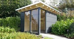 Gartenhaus Mit Glasfront : design gartenhaus classic das flachdach gartenhaus ger tehaus ~ Markanthonyermac.com Haus und Dekorationen