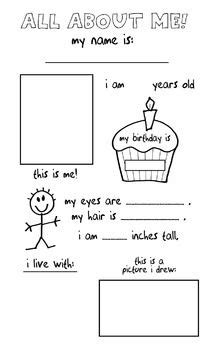 gallery all about me toddler craft drawings gallery