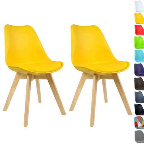 lot de 2 chaise de salle 224 manger en bois en tissu chaise de cuisine f028 ebay