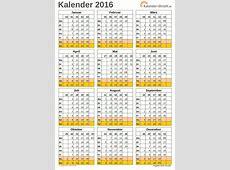 EXCELKALENDER 2016 KOSTENLOS