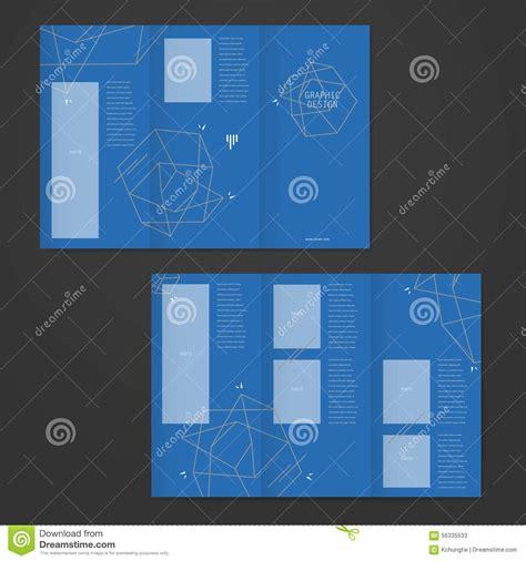 Simplicity Tri Fold Brochure Template Design Stock Vector Simplicity Tri Fold Brochure Template Design With