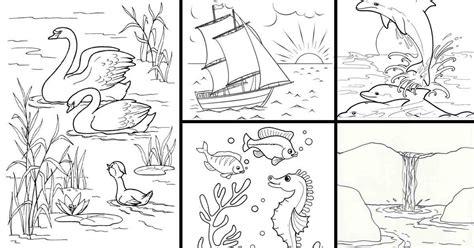 13 contoh gambar mewarnai pemandangan alam untuk anak tk