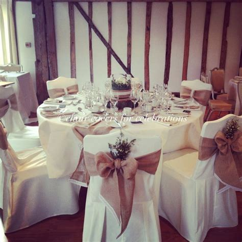 rustic chair covers sashes table runners and centrepiece for www chaircoversforcelebrations