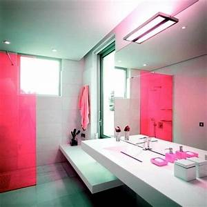 In color bathed elegant ideas for pink bathroom designs for Interior design pink bathrooms
