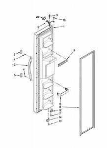 Freezer Door Parts Diagram  U0026 Parts List For Model