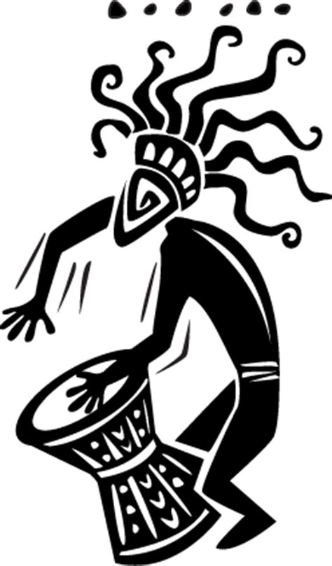 Autocollant mural danse africiane - TenStickers