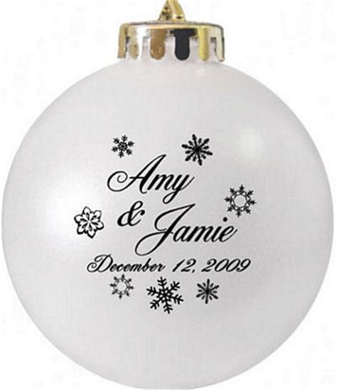 snow flakes script favor ornaments