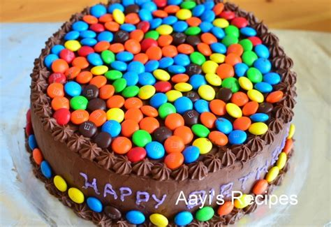cake decoration ideas with gems m m gems cake with chocolate buttercream aayis recipes