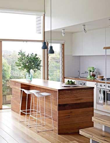 deco cuisine blanc et bois cuisine verrière déco design en blanc et bois