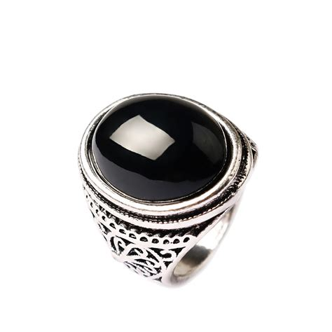 buy black stone rings  men antique