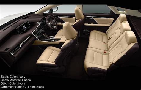 lexus rxh interior color photo image seat colour