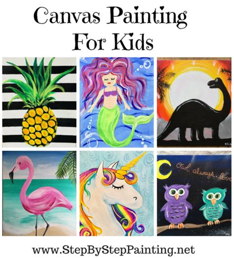 painting  kids step  step canvas painting