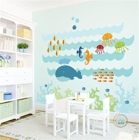Kinderzimmer Junge Meer by Wall Decal The Sea Large Nursery