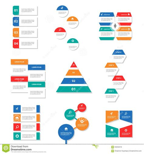 Colorful Infographic Presentation Template Brochure Flyer 9 Colorful Infographic Elements Presentation Template Flat