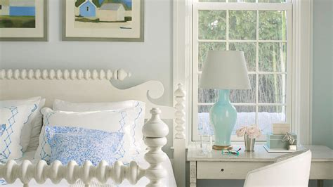 Palette Classic Blue White by 30 Beautiful Beachy Bedrooms Coastal Living