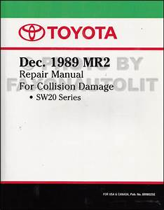 1991 Toyota Mr2 Repair Shop Manual Factory Reprint 2