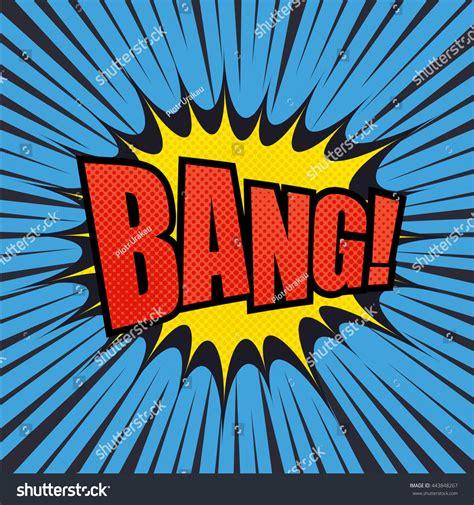 Bang Comic Bubble Text Halftone Effect Vectores Stock