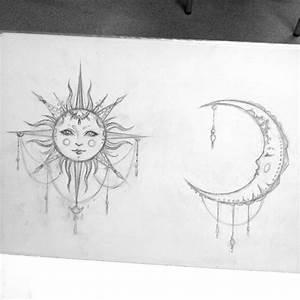 hazel-thorn // #sun #moon #art #sketch #design #pencil #tattoo