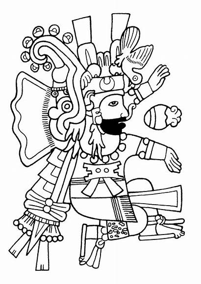 Coloring Incas Maya Mayans Pages Museum Aztec