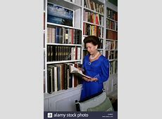 Princess Margaret seen in her library at Kensington Palace