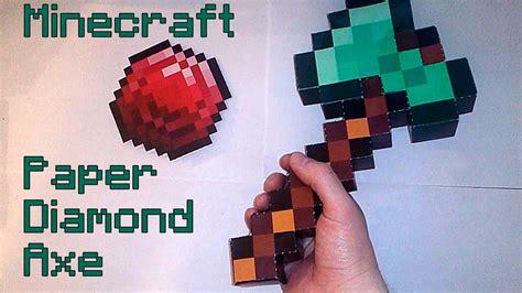 Making Paper Diamond Axe