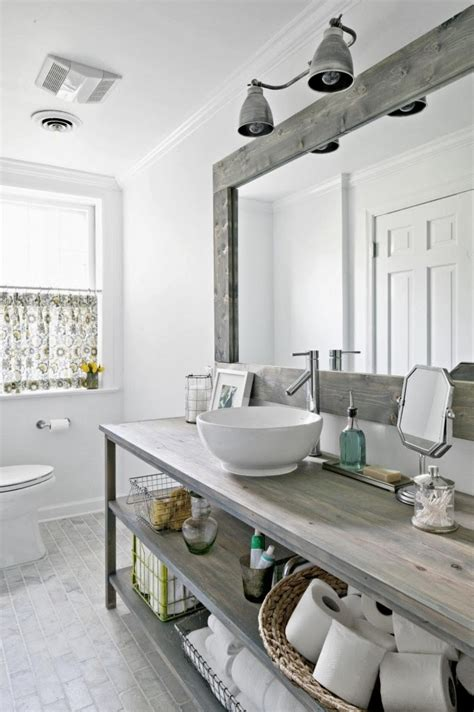 Diy Industrial Bathroom Mirror by Refresheddesigns Seven Stunning Modern Rustic Bathrooms