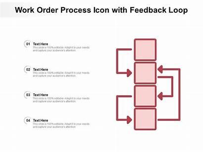 Feedback Loop Process Order Icon Presentation