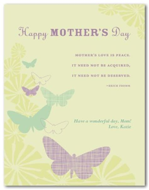 printable mothers day butterfly card template