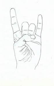 Devil Horns Drawing Related Keywords - Devil Horns Drawing ...