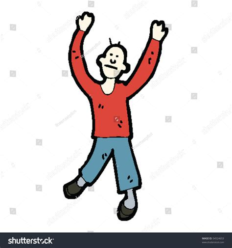 Dancing Man Cartoon Stock Vector Illustration