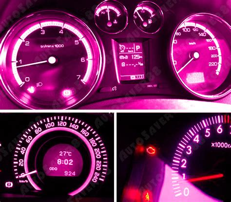 10x t5 3smd pink purple dashboard cluster instrument